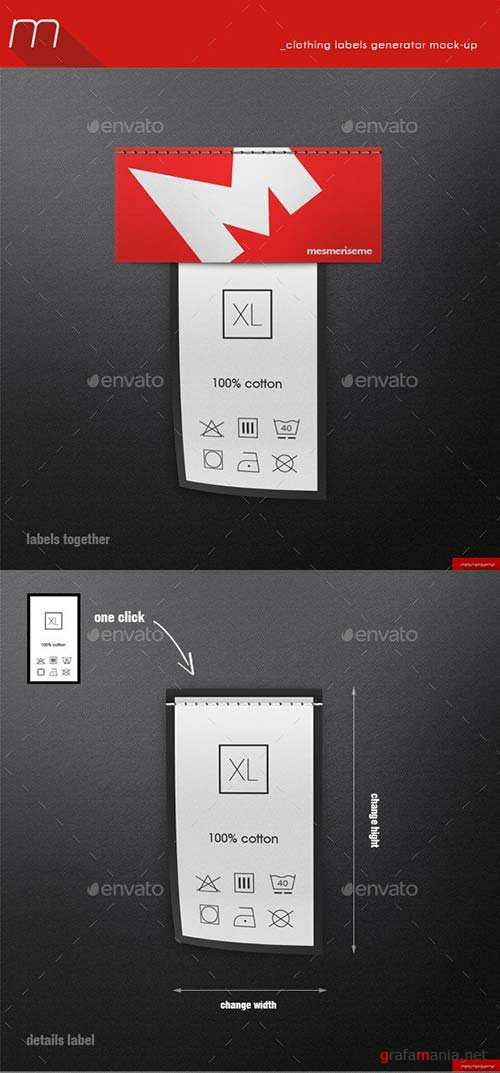 GraphicRiver Clothing Labels Generator Mock-up