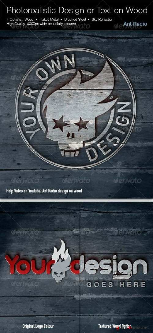 GraphicRiver Photorealistic Signage or Text on Wood