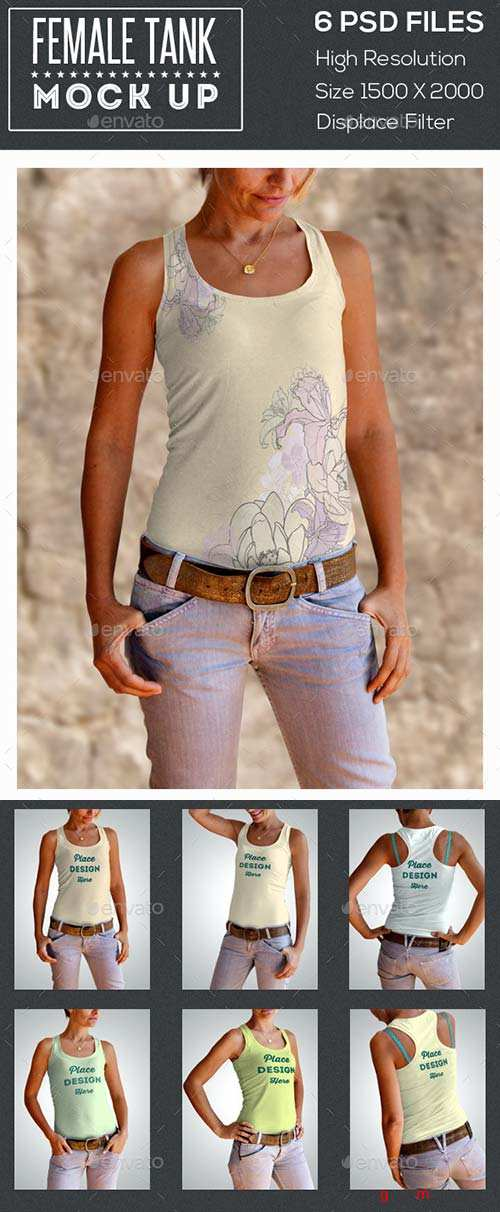 GraphicRiver Female Tank Mock Up
