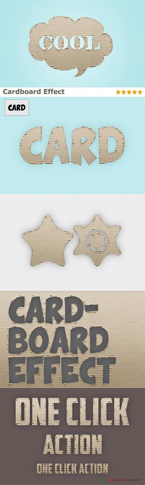 CreativeMarket - Cardboard Effect Action 17666