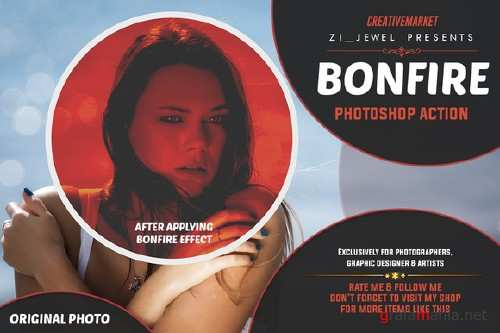 CreativeMarket - Bonfire Photoshop Action 98112