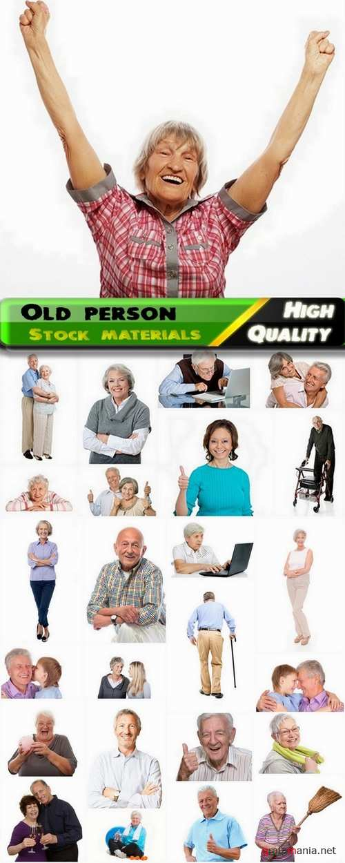 Old person isolated on white Stock images - 25 HQ Jpg