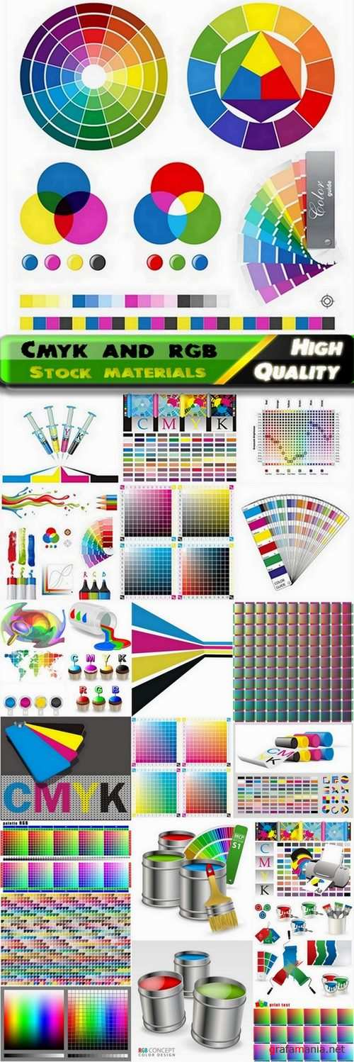 Cmyk and rgb objects and backgrounds - 25 Eps