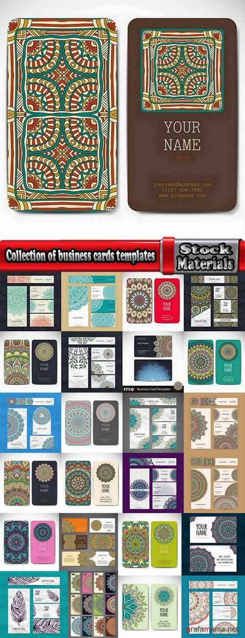 Collection of business cards templates #3-25 Eps
