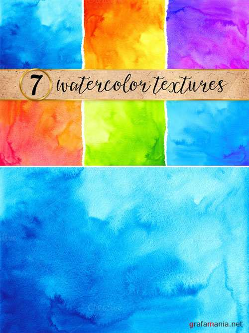 CreativeMarket - 7 bright watercolor backgrounds