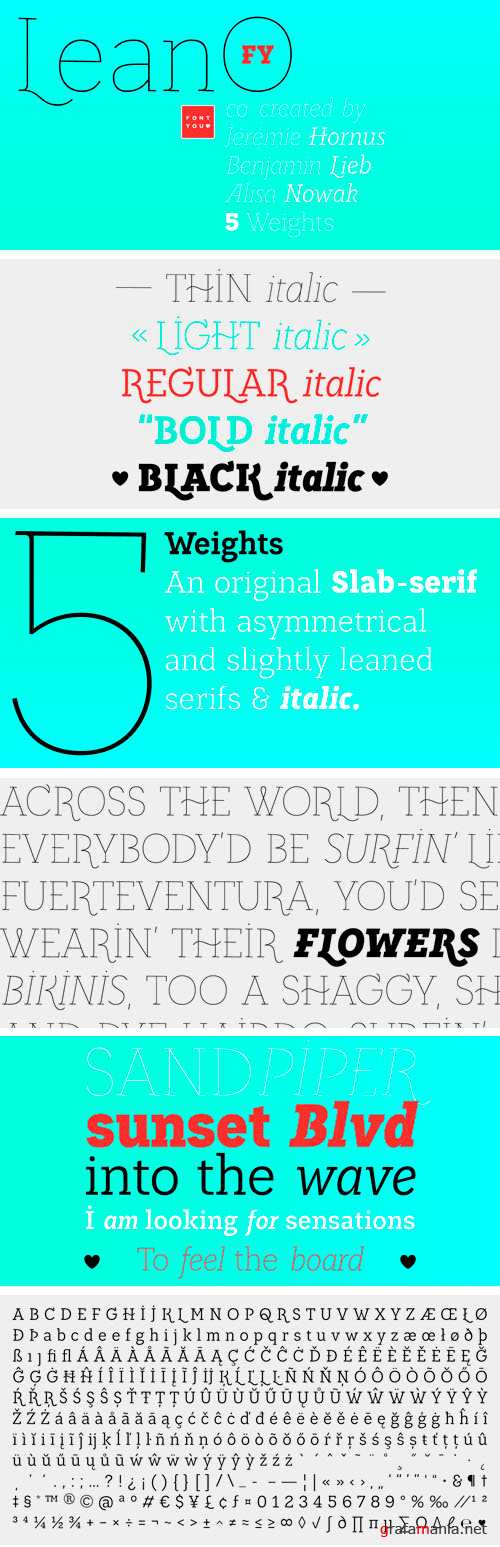 LeanO FY Font Family