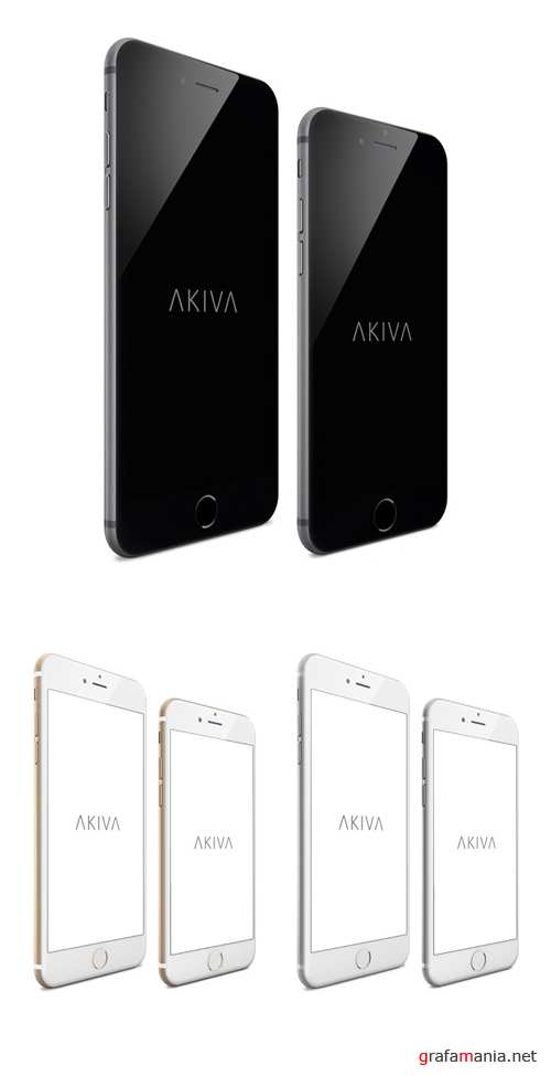 White and Black iPhone Mock up PSD