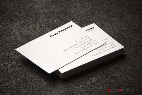 Clean Business Card Mock up PSD