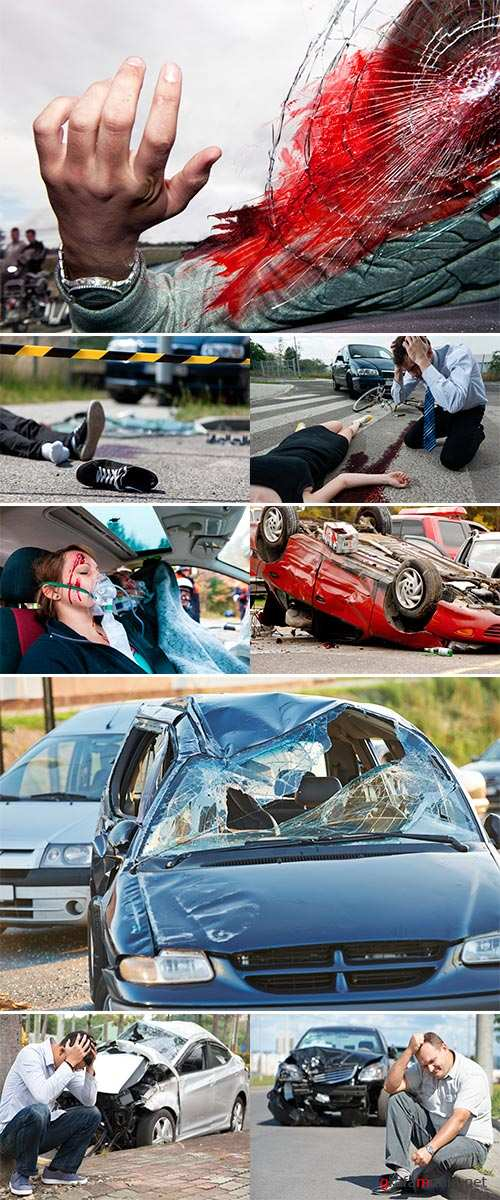 Stock Photo Close-up of a deadly car accident