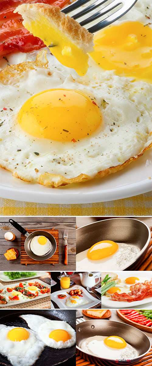 Fried eggs, Stock Images