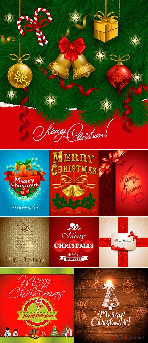 Stock Christmas card, Stock Illustration vector