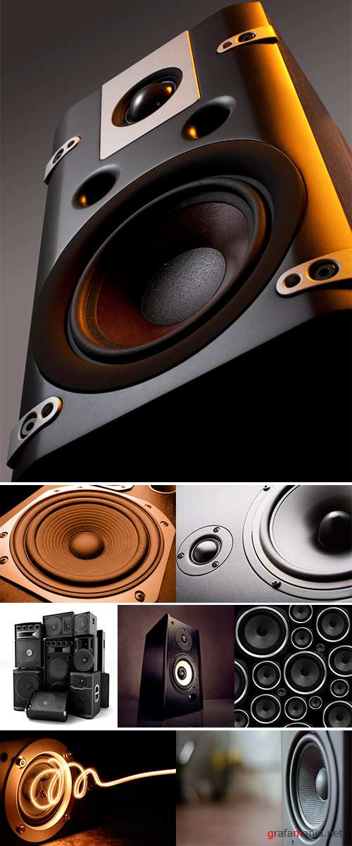 Stock Photo Speakers abstract background