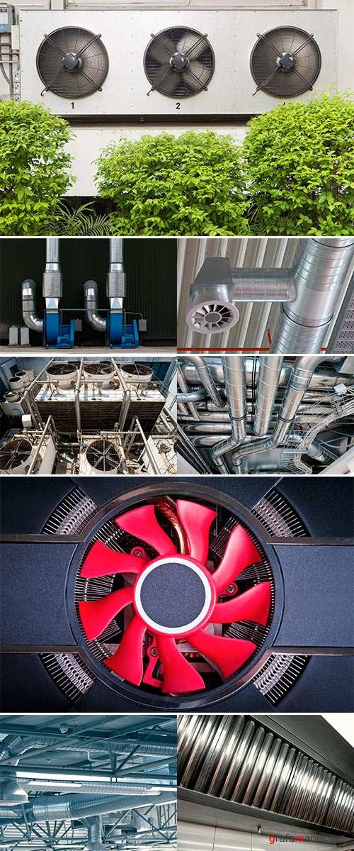 Stock Photo Ventilation opening of an air conditioning system