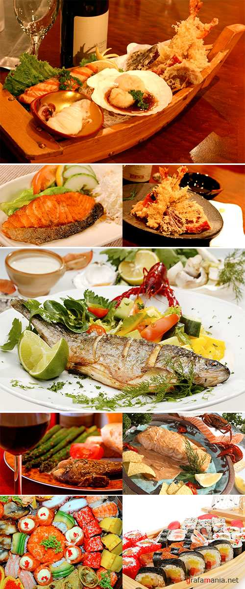 Seafood dishes, Stock Image