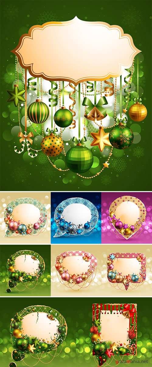 Stock Christmas vintage bubble,  Stock Illustration