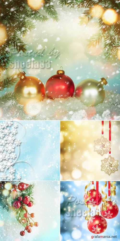 Stock Photo - Christmas & New Year 2015 Backgrounds