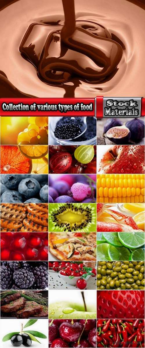 Collection of various types of food #2-25 UHQ Jpeg
