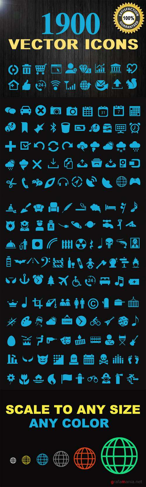 1900 Vector Icons - CreativeMarket
