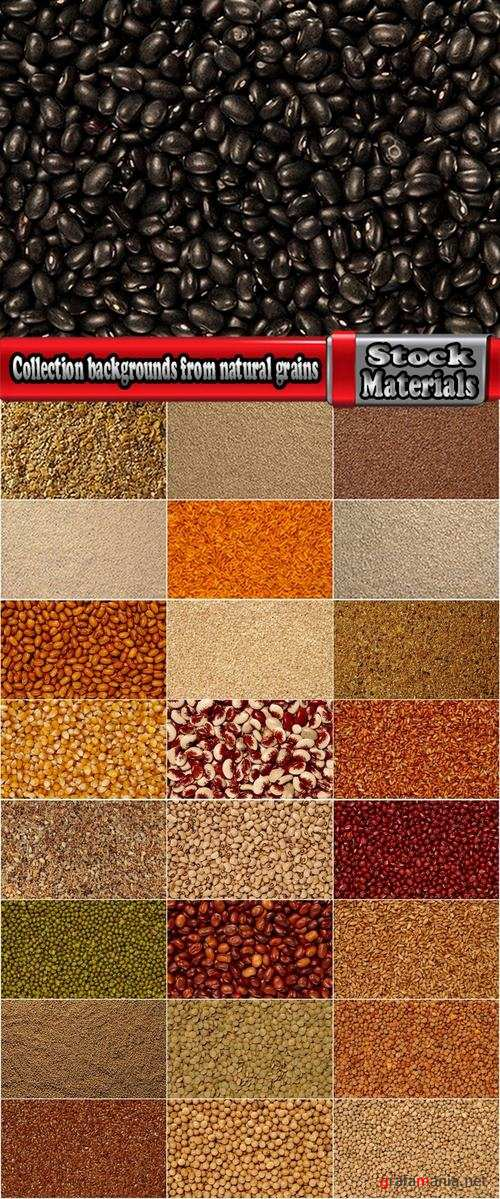 Collection backgrounds from natural grains 25 UHQ Jpeg