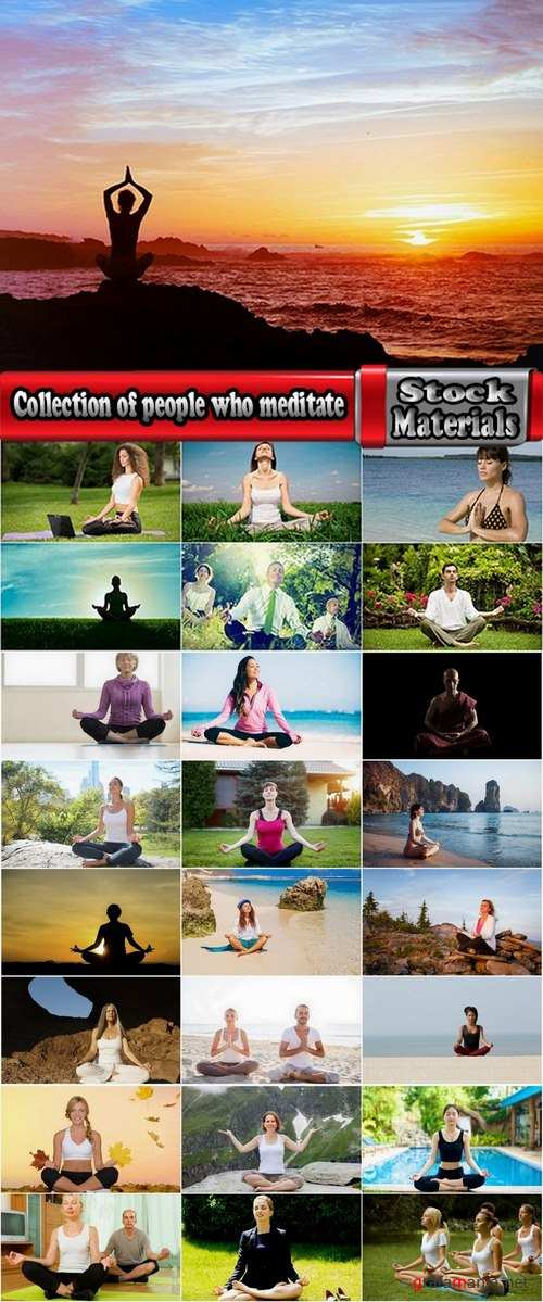 Collection of people who meditate 25 UHQ Jpeg
