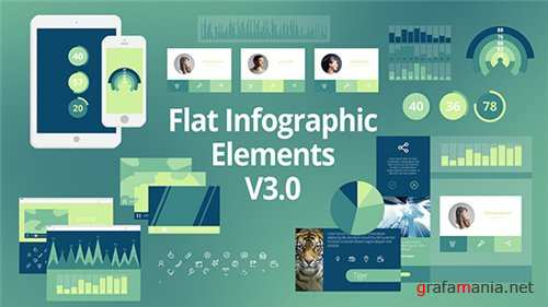 Flat Infographic Elements V3.0 - After Effects Project (Videohive)