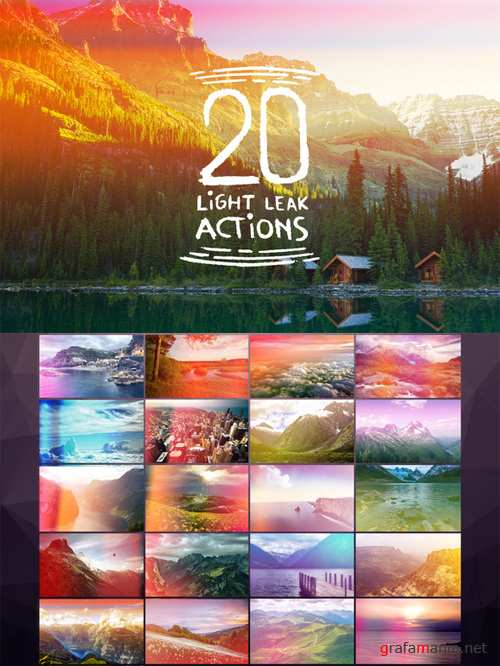 20 Light Leak Actions - CreativeMarket