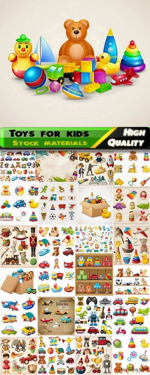 Toys for kids in vector from stock - 25 Eps