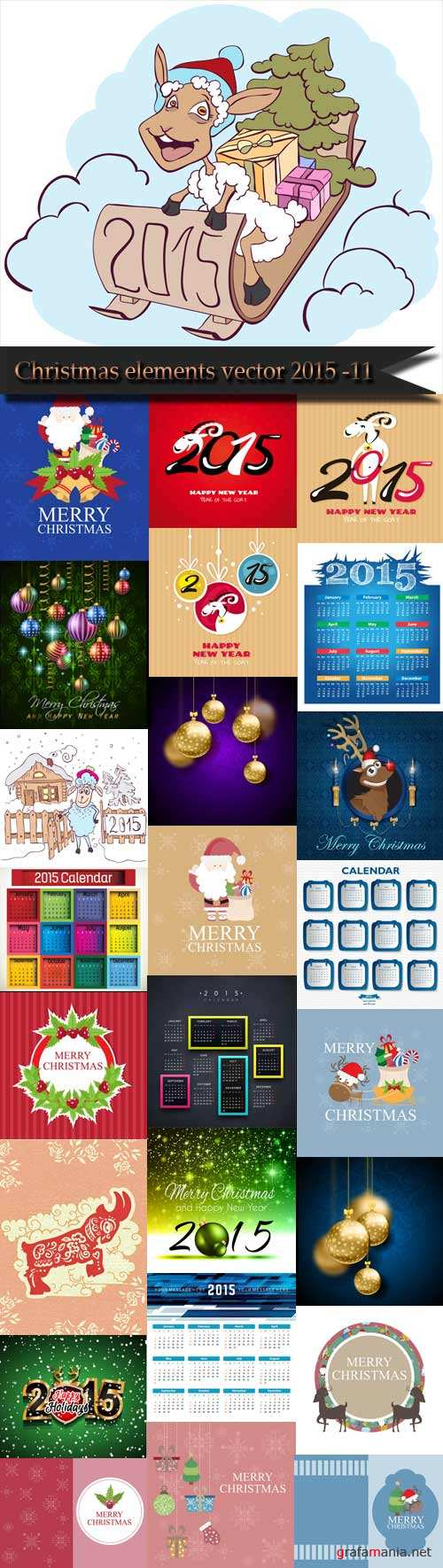 Christmas elements vector 2015 -11