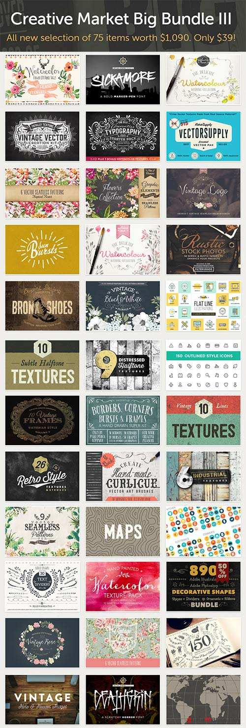 CreativeMarket Big Bundle III