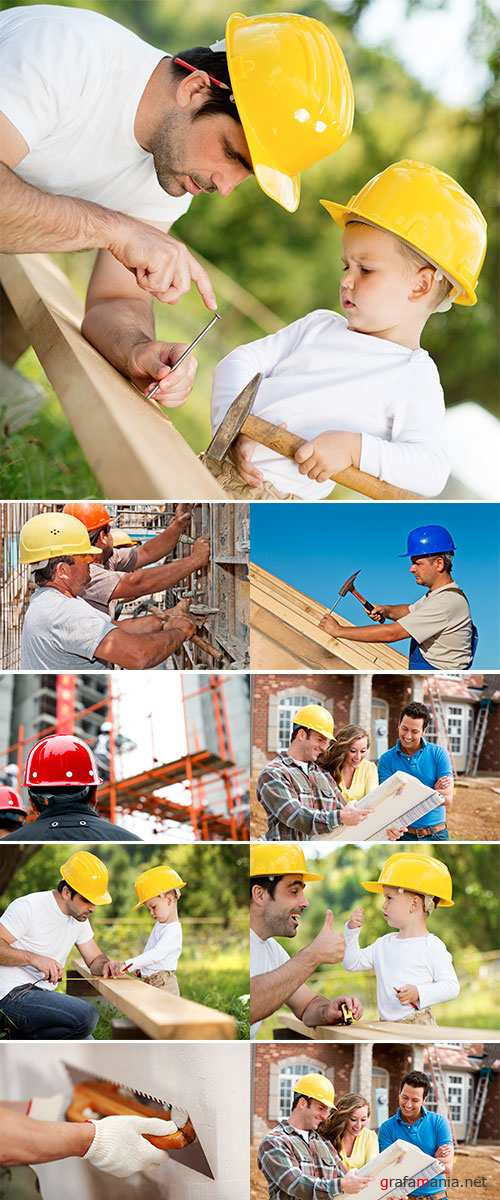 Stock Photo Building and builders