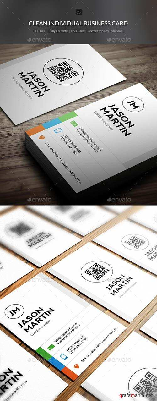 GraphicRiver Clean Individual Business Card - 25