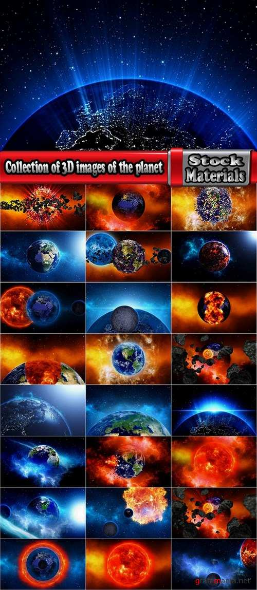 Collection of 3D images of the planet #2-25 UHQ Jpeg