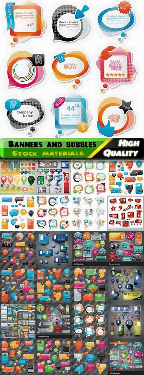 Web banners and bubbles for Sale - 24 Eps