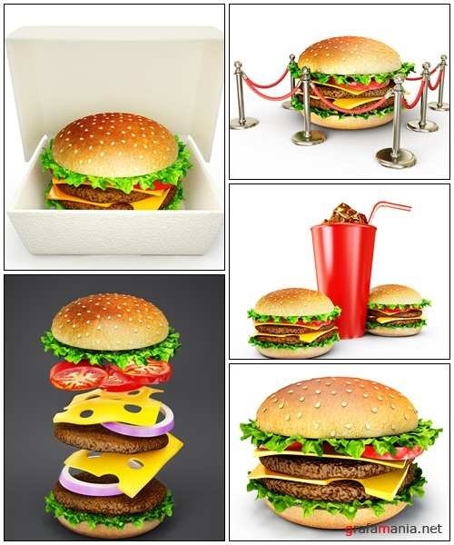 Fast food, 3 - Stock Photo