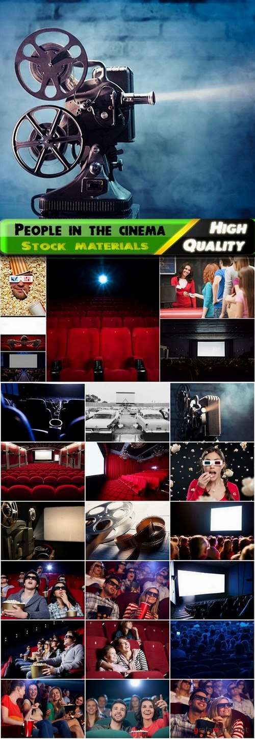 People in the cinema and interior of cinema - 25 HQ Jpg