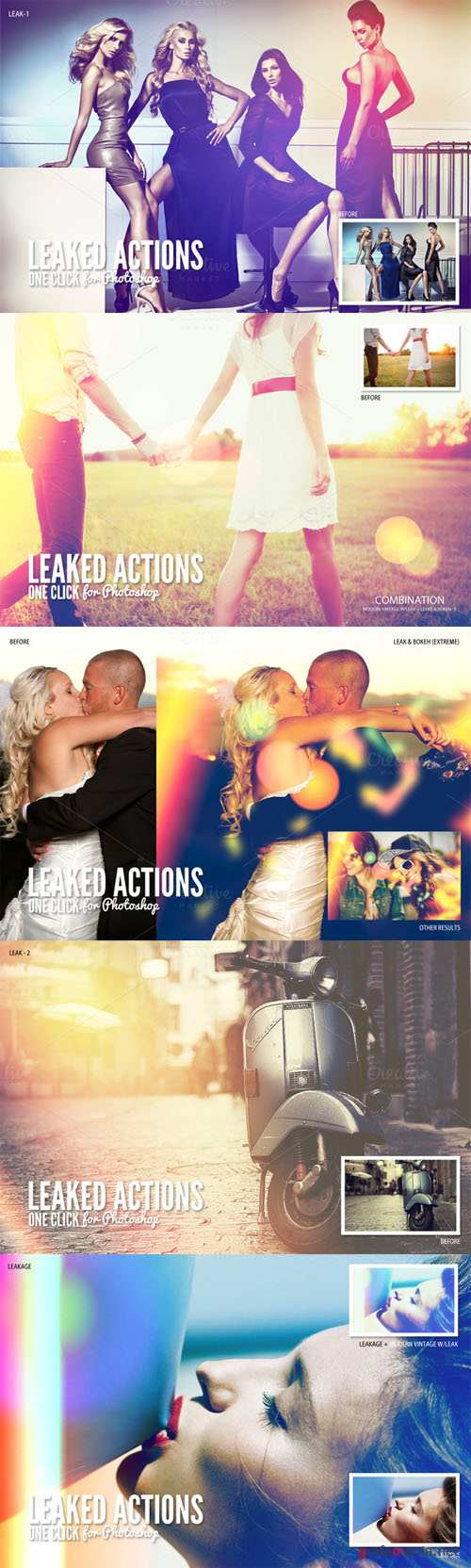 CreativeMarket - Leaked Photoshop Actions Series One 107339