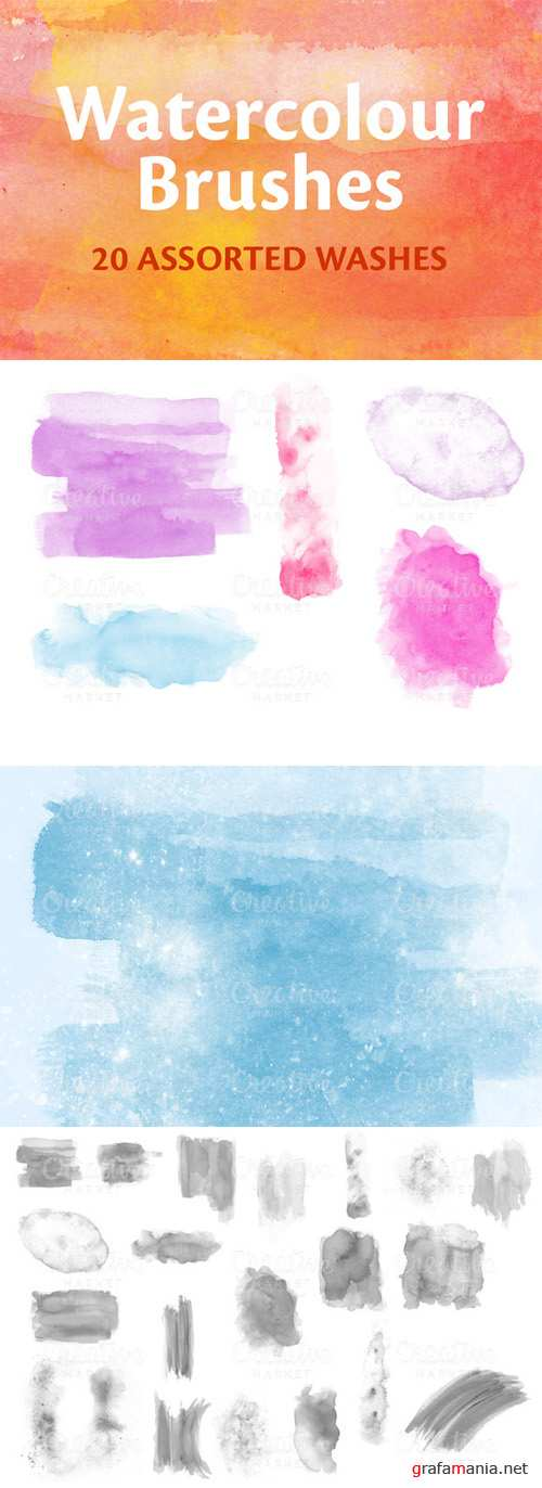 CreativeMarket - Watercolour / Watercolor Brushes 4606