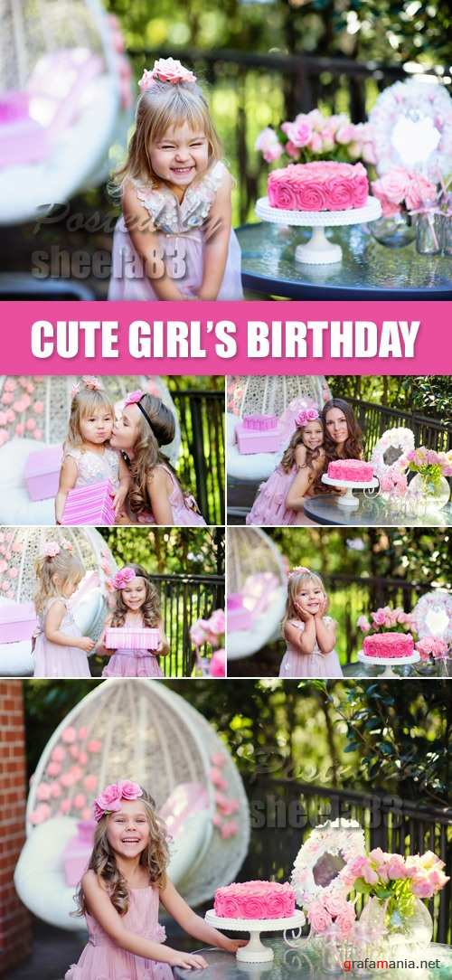 Stock Photo - Little Girl's Birthday