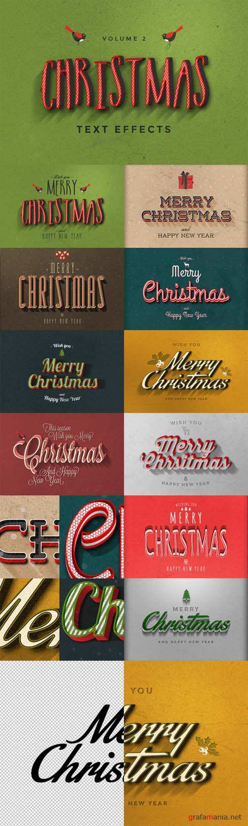 Christmas Text Effects Vol 2