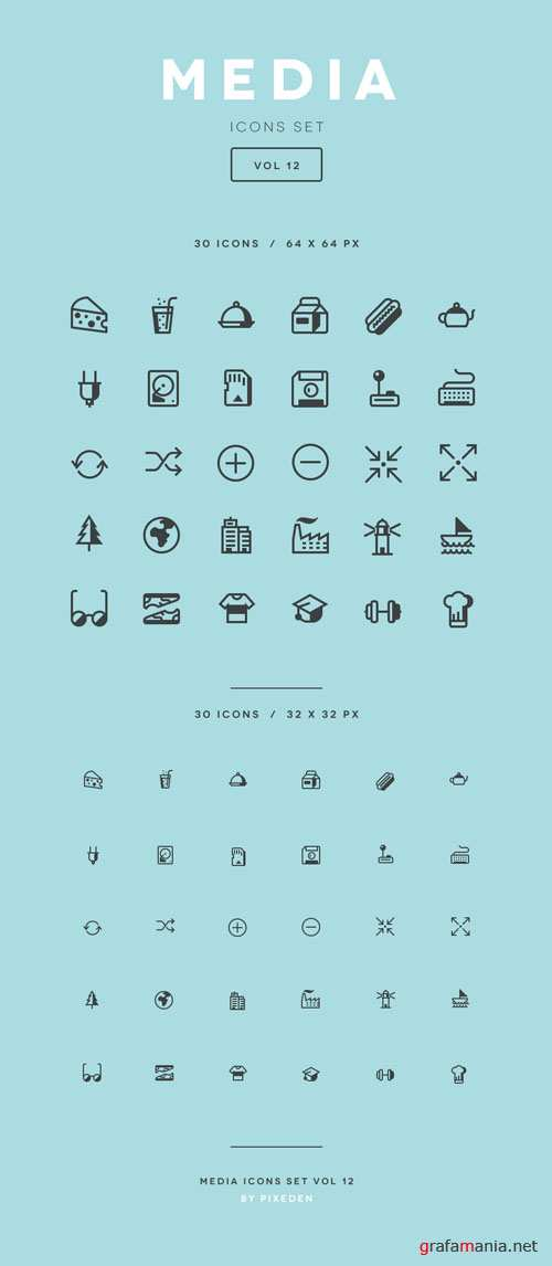 Media Icon Set Vol12
