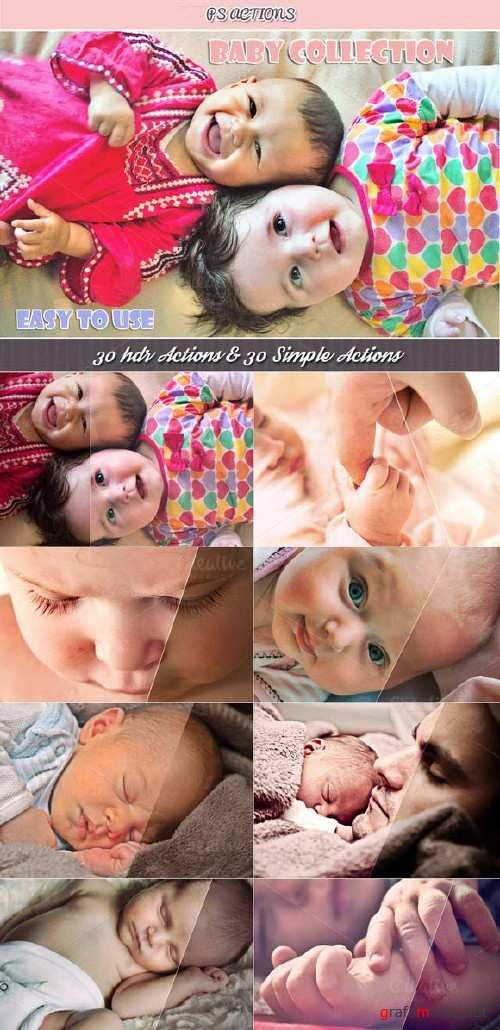 CreativeMarket Baby Collection - 150 PS Actions