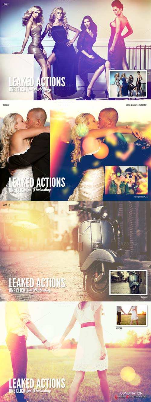 CreativeMarket Leaked Photoshop Actions Series One
