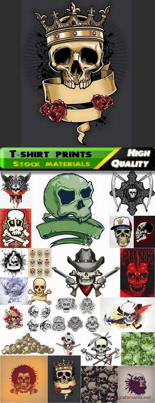 T-shirt prints design in vector from stock #25 - 24 Eps