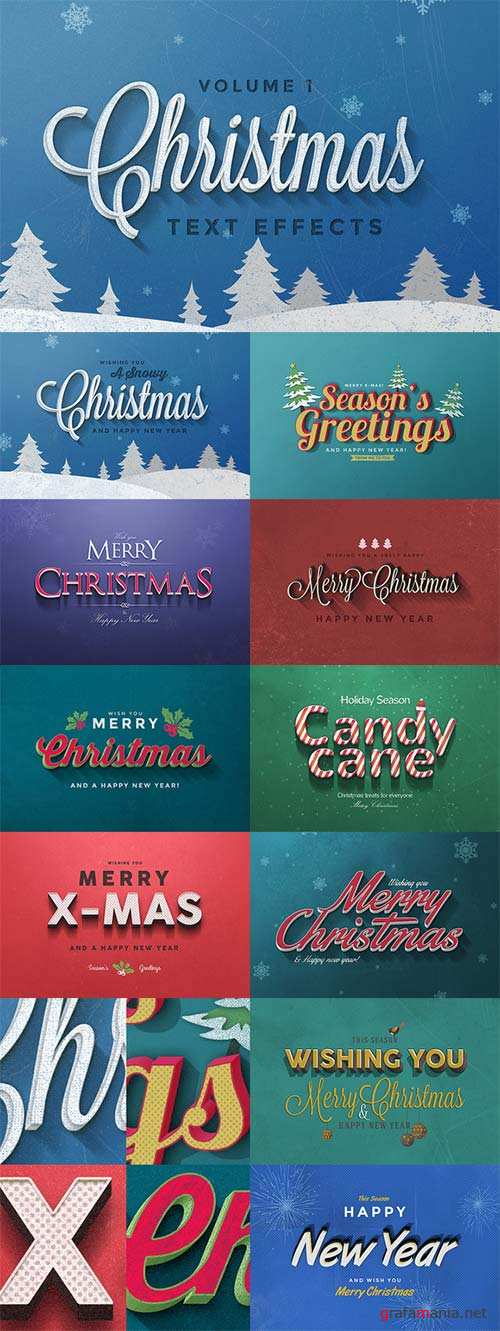 Christmas Text Effects Vol 1