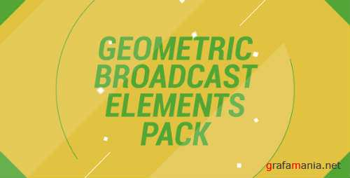 Geometric Broadcast Elements Pack - After Effects Project (Videohive)