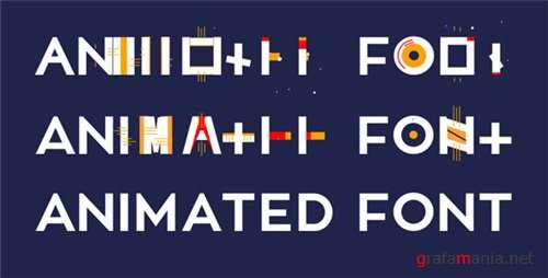 Animated Font - After Effects Project (Videohive)
