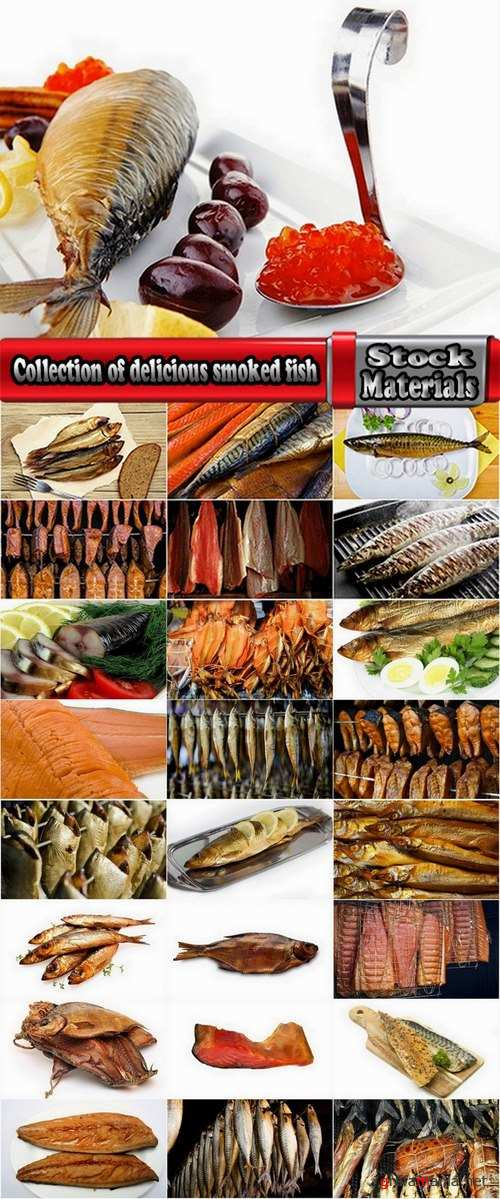 Collection of delicious smoked fish 25 UHQ Jpeg