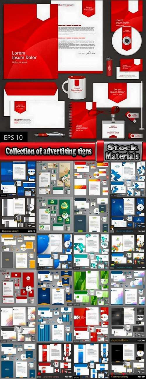 Collection of advertising signs #2-25 Eps