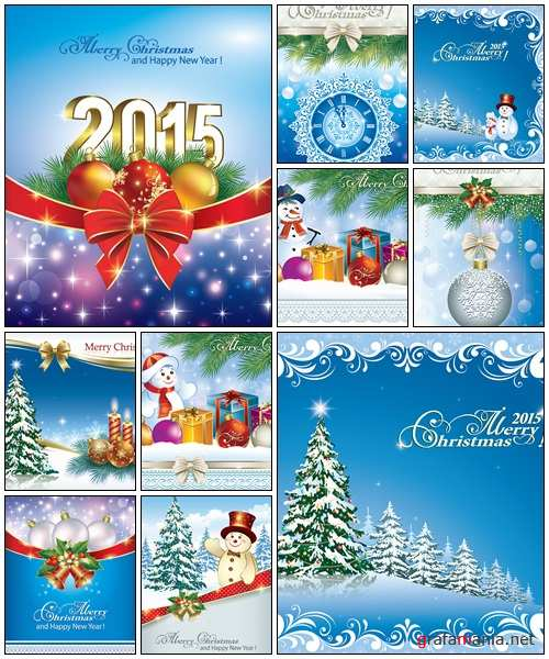 Christmas card with gift boxs - vector stock
