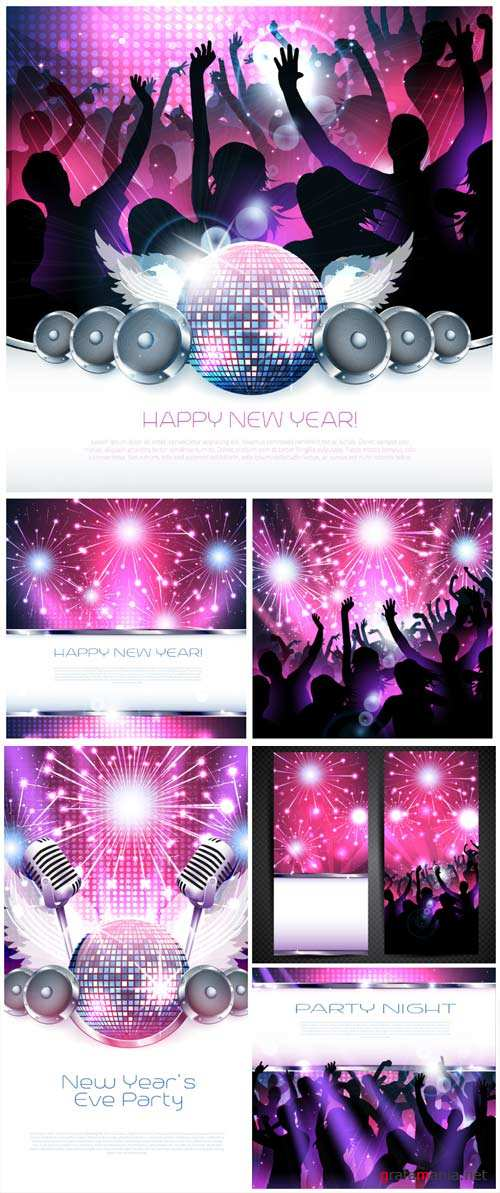 New Year's party, vector backgrounds